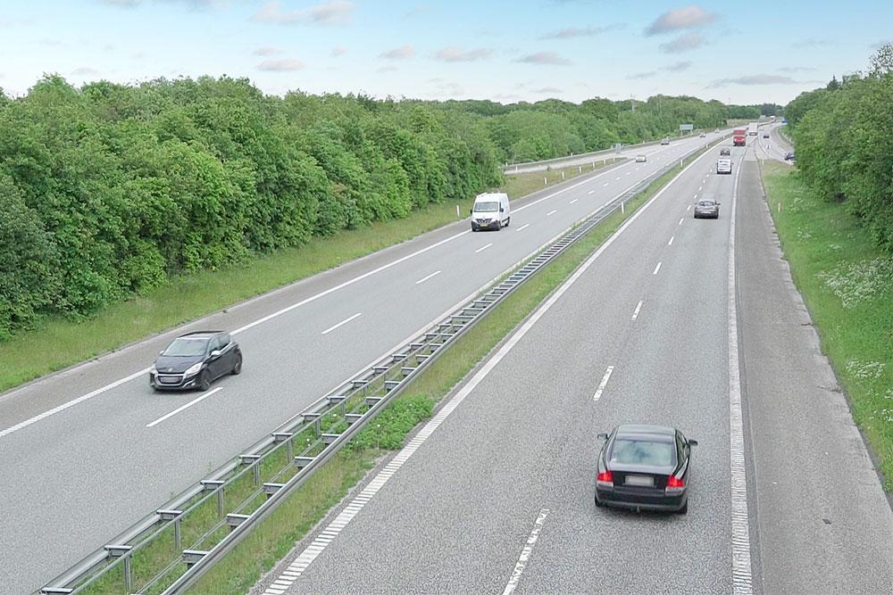 E20 motorvej ved Vejen